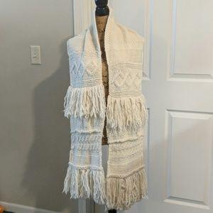 Cream scarf from Banana Republic